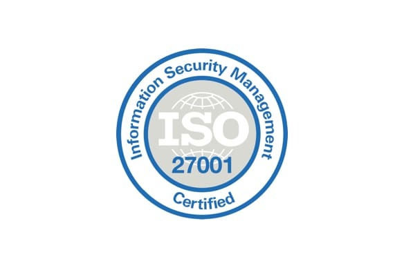 ISO 27001 Certified badge