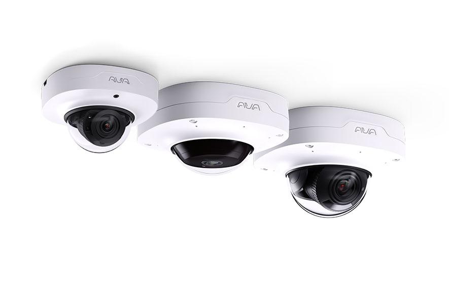 3 Ava cameras white